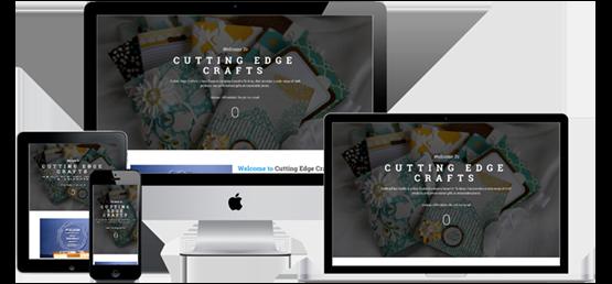 Cutting Edge Crafts website screenshots