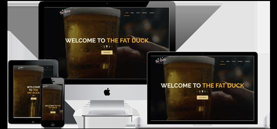 The Fat Duck Gastropub website screenshots