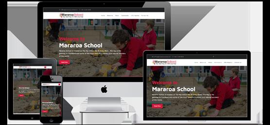 Mararoa School website screenshots