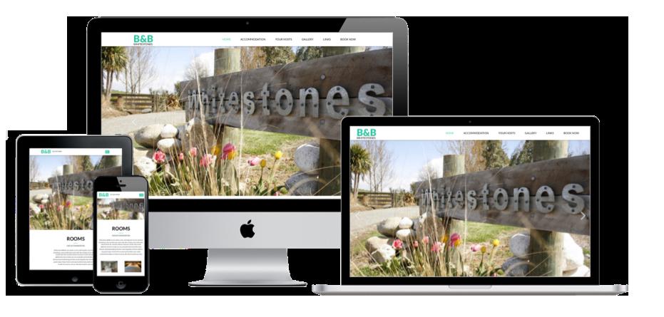 Whitestones Bed and breakfast website screenshots