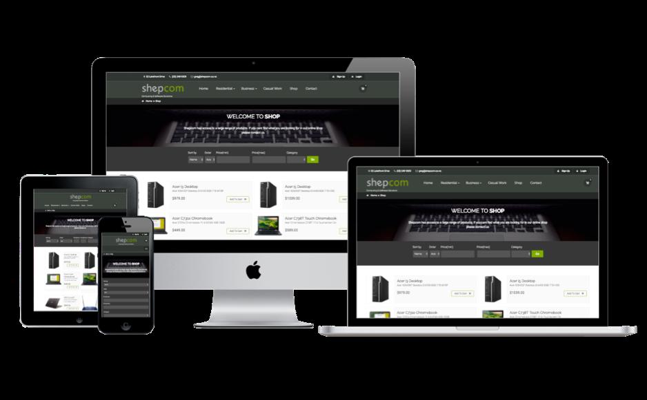 Shepcom website screenshots