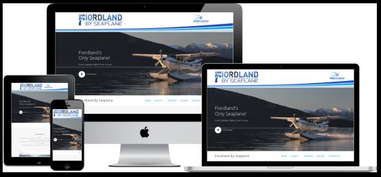 Fiordland by Seaplane website screenshots